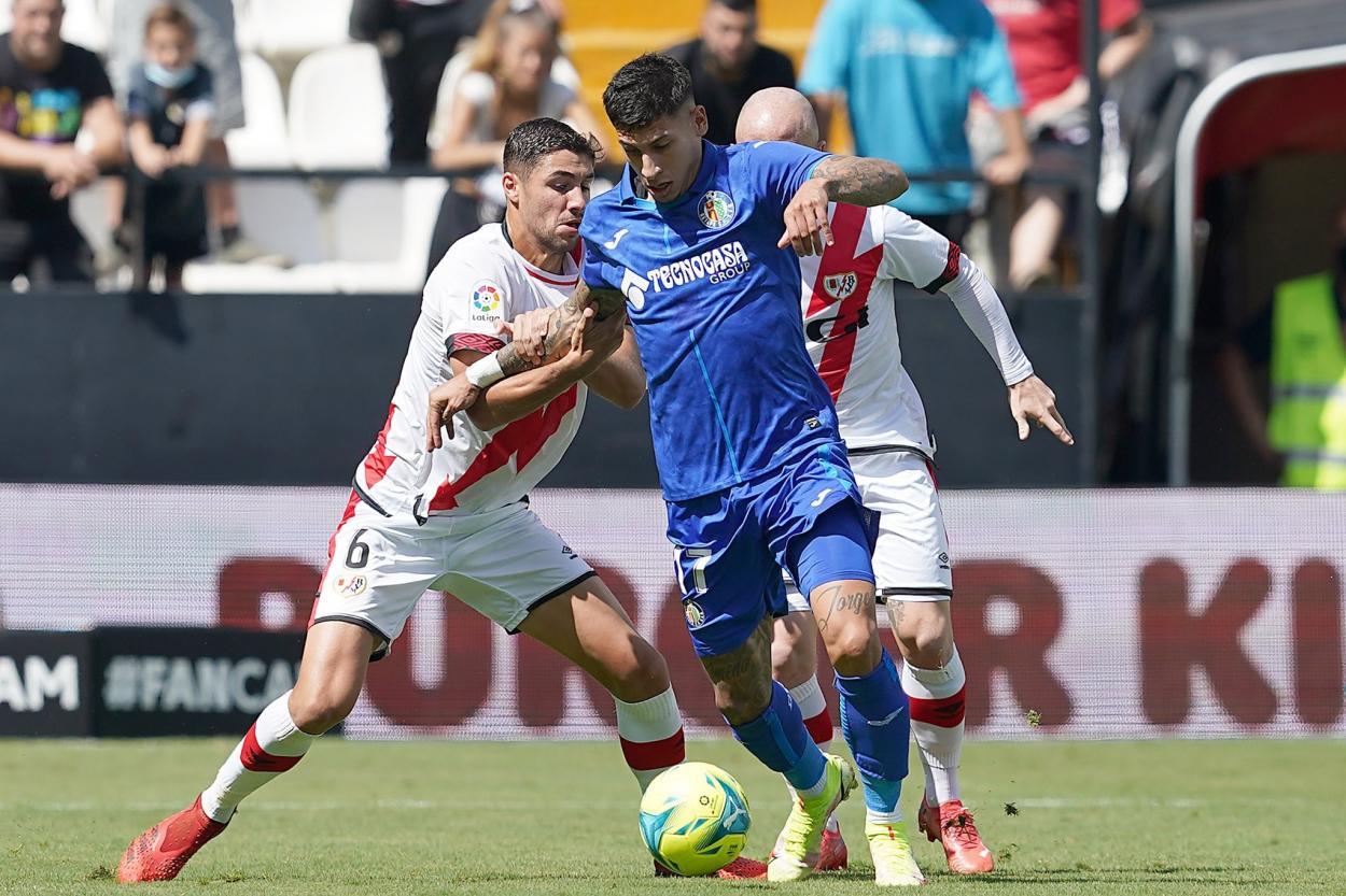 Imagen del partido del Getafe frente al Rayo Vallecano / Fuente: Getafe CF