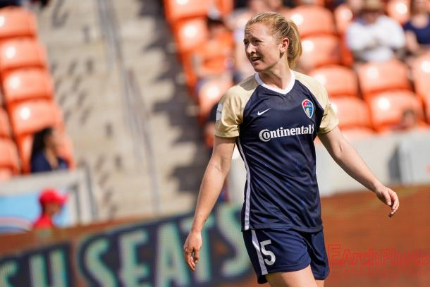 Sam Mewis of the Courage l Photo: EarchPhoto