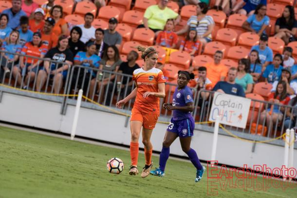 Morgan Brian will have to wait before making her return for the Houston Dash | Source: E. Sbrana - Earchphoto