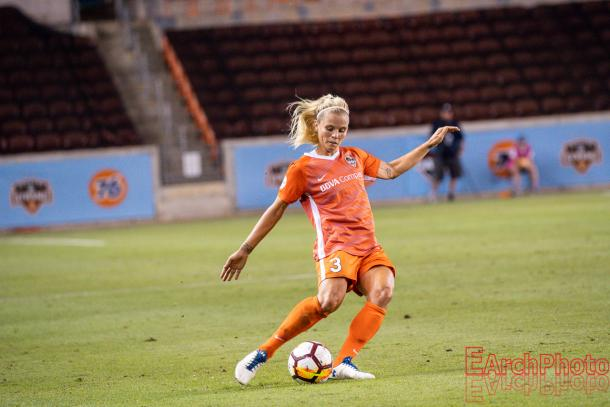 Rachel Daly had four goals on nine shots on goal with 11 chances created in earning the Player of the Month Award for May (Photo: EarchPhoto)