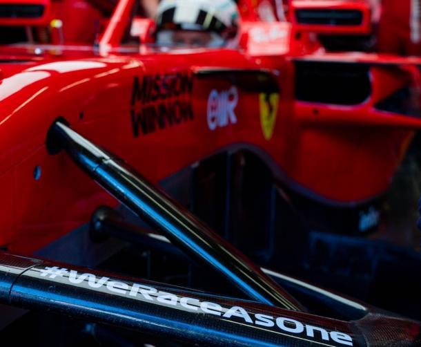 El hástag en el Ferrari. Foto: Ferrari