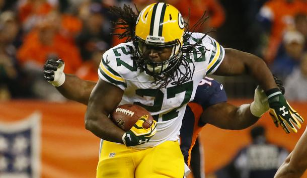 Eddie Lacy has missed the last month due to an ankle injury and was placed on the IR a few weeks back | Source: Jack Dempsey - AP Photo