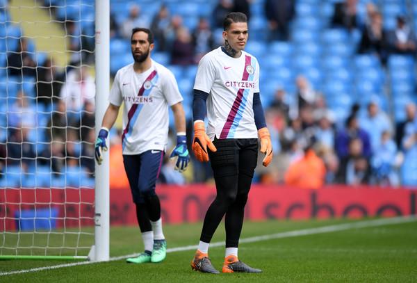 Los dos porteros del Manchester City. Foto: Getty Images