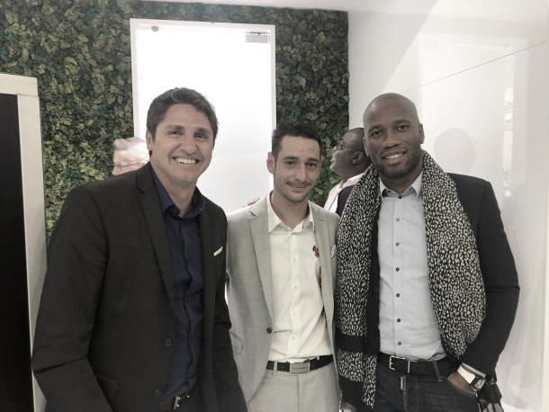 Edmilson, Yuri Djorkaeff e Didier Drogba agora fazem parte do time de embaixadores da Liga Francesa. (Imagem: FIVE Agência / Reprodução)