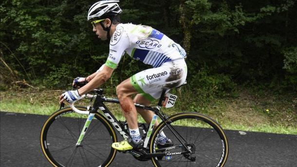 El argentino sufrió una dura caída en el pasado Tour de Francia | Foto: AFP