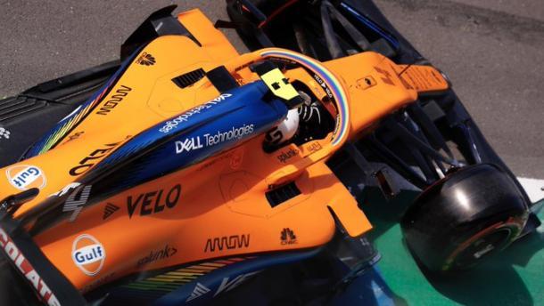 Norris en los libres 3. Foto: F1