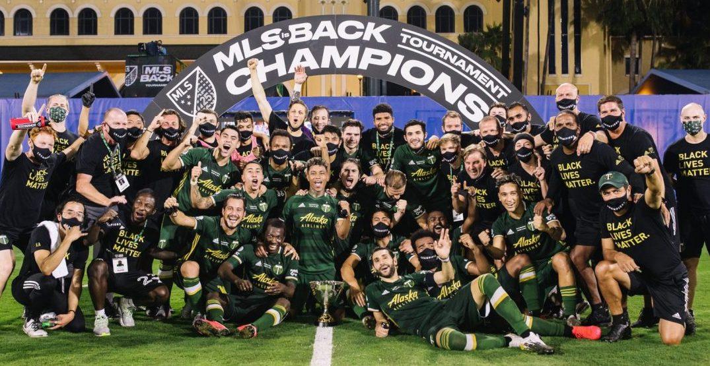 Timbers FC celebrando el MLS is Back (dailyhive.com)