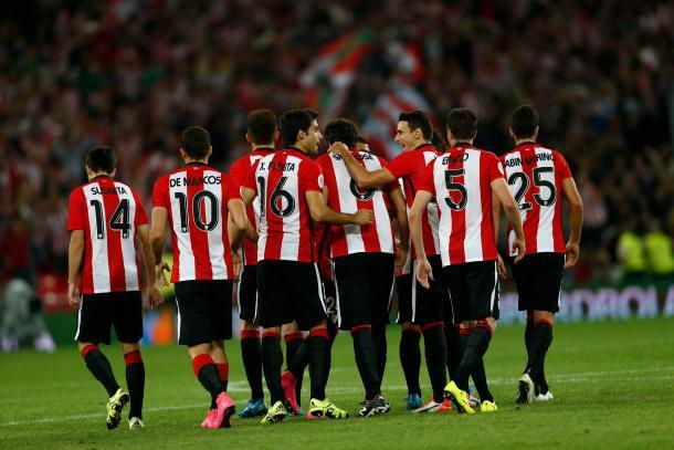 Celebración del gol de San José | Foto: Twitter Athletic Club