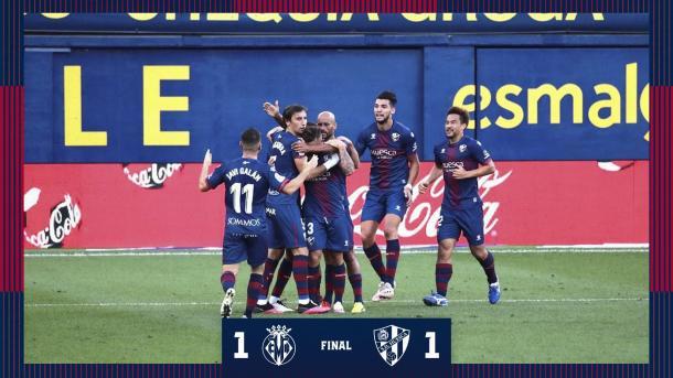 Final de la primera jornada de liga / Twitter: SD Huesca