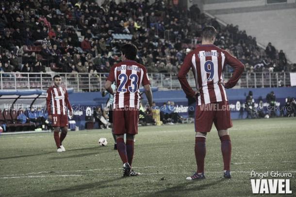 El Atlético de Madrid en Ipurúa | Foto: Ángel Ezkurra - VAVEL