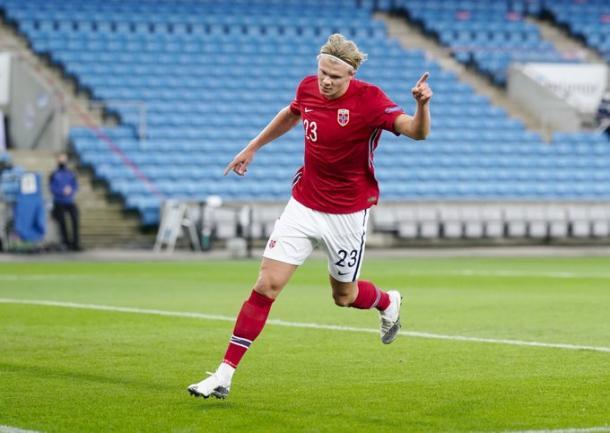 Erling Haaland celebrando uno de sus goles / FOTO: UEFA