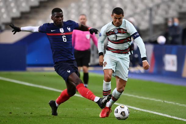 Dos estrellas que apenas brillaron, Pogba y Cristiano / FOTO: UEFA