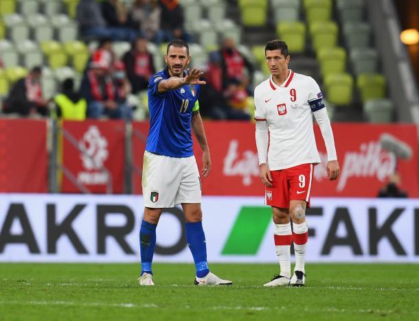 Bonucci y Lewandowski, capitanes de los suyso / FOTO: UEFA