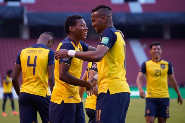 Ecuador volvió a la victoria. Foto: Selección de Ecuador Twitter @LaTri