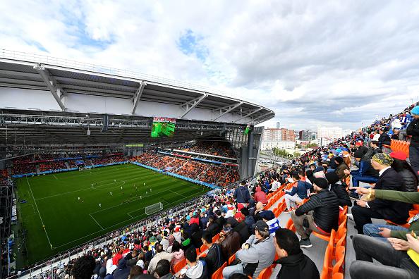 Visão do 'puxadinho' da Ecaterimburgo Arena no Egito 0x1 Uruguai na primeira rodada (Foto: Dan Mullan/Getty Images