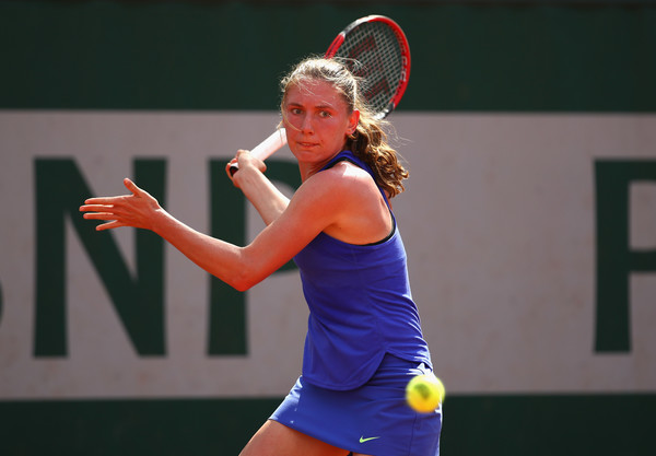 Ekaterina Alexandrova played some good matches in Paris last month | Photo: Clive Brunskill/Getty Images Europe