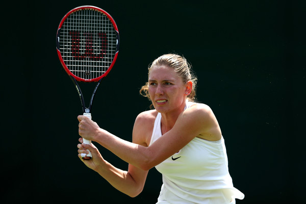 Ekaterina Alexandrova claimed her biggest victory in her career at last year's Wimbledon over Ana Ivanovic