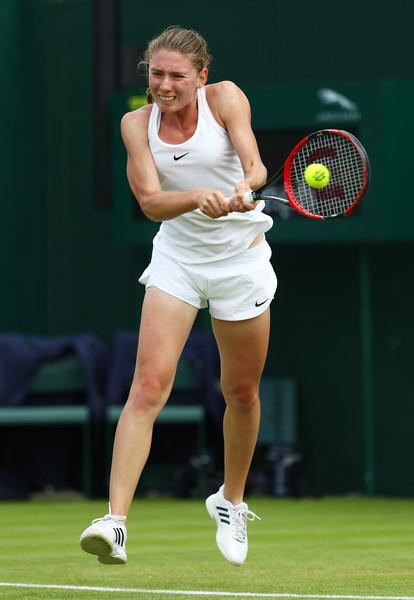 Ekaterina Alexandrova made her grand slam main draw debut last year at Wimbledon | Photo:  Julian Finney/Getty Images Europe