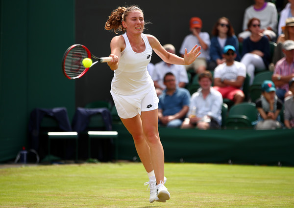Ekaterina Alexandrova in action | Photo: Clive Brunskill/Getty Images Europe