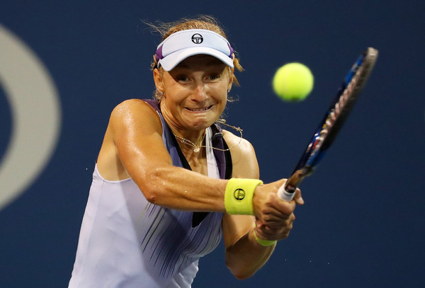 Makarova in action at the US Open | Photo: Al Bello/Getty Images North America