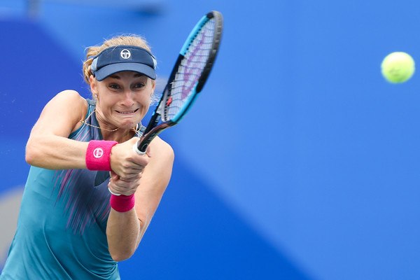 Ekaterina Makarova in action at the Wuhan Open | Photo: Yifan Ding/Getty Images AsiaPac