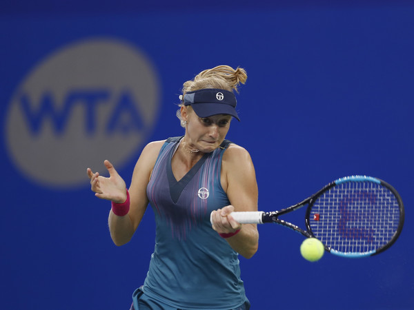 Ekaterina Makarova hits a forehand | Photo: Kevin Lee/Getty Images AsiaPac
