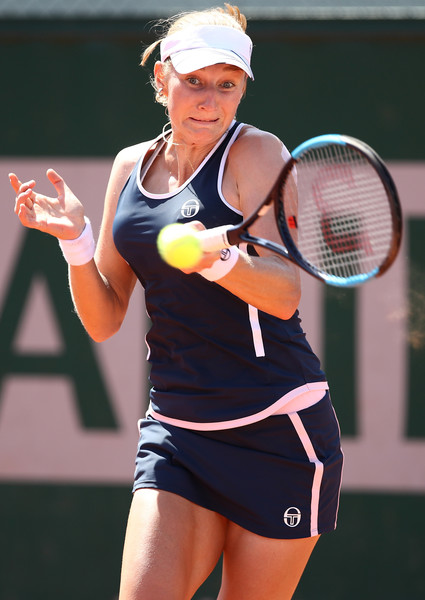 Ekaterina Makarova's forehands were firing on all cylinders today | Photo: Cameron Spencer/Getty Images Europe