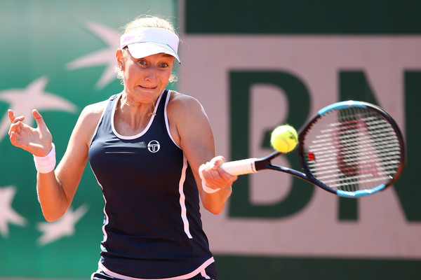 Ekaterina Makarova committed too many unforced errors today | Photo: Cameron Spencer/Getty Images Europe