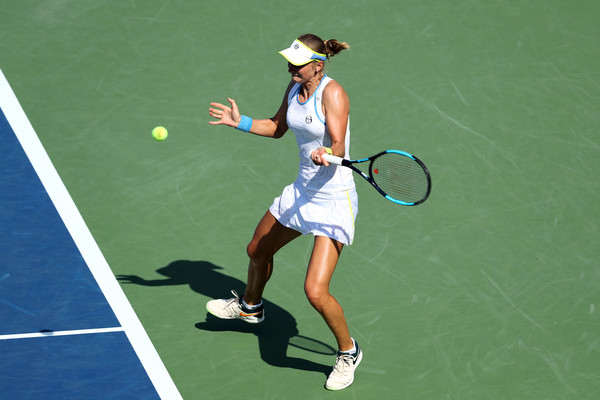 Ekaterina Makarova rolled to claim the 7-6, 6-3 win over Goerges in the second round | Photo: Elsa/Getty Images North America