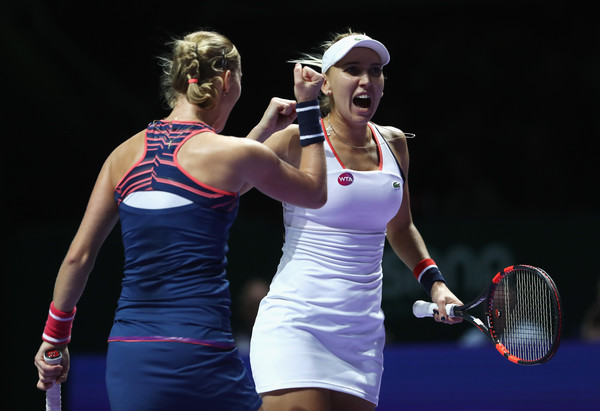 Makarova and Vesnina looks to defend their title in Singapore | Photo: Julian Finney/Getty Images AsiaPac