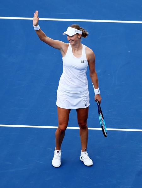 Ekaterina Makarova celebrates her win   Photo: Maddie Meyer/Getty Images North America