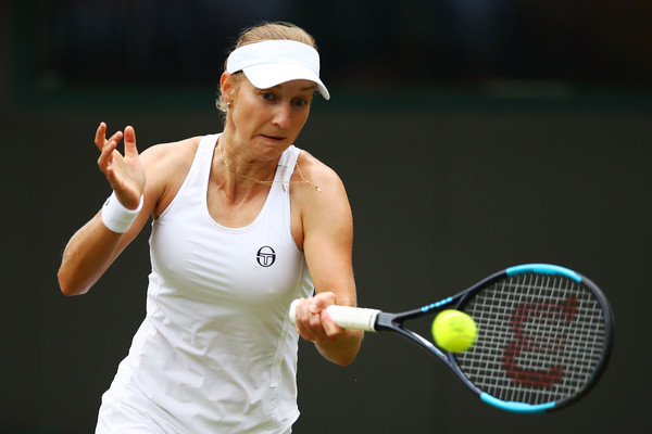 Ekaterina Makarova's forehands were too good during the match | Photo: Clive Brunskill/Getty Images Europe
