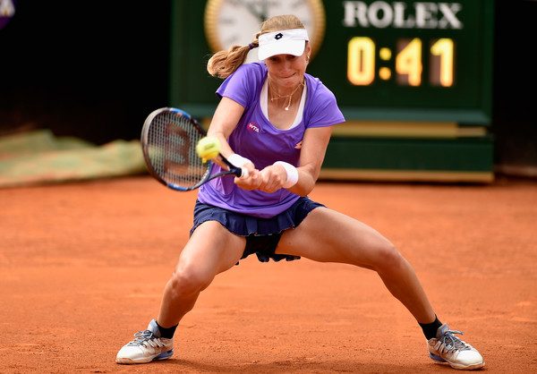 Ekaterina Makarova hits a backhand at the Italian Open last year | Photo: Dennis Grombkowski/Getty Images Europe