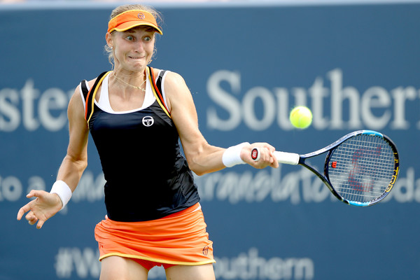 Ekaterina Makarova will be pleased with her performance, having came back from the brink to triumph in three sets | Photo: Matthew Stockman/Getty Images North America