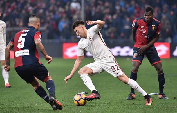 El Shaarawy durante el último partido en Serie A | Foto: AS Roma