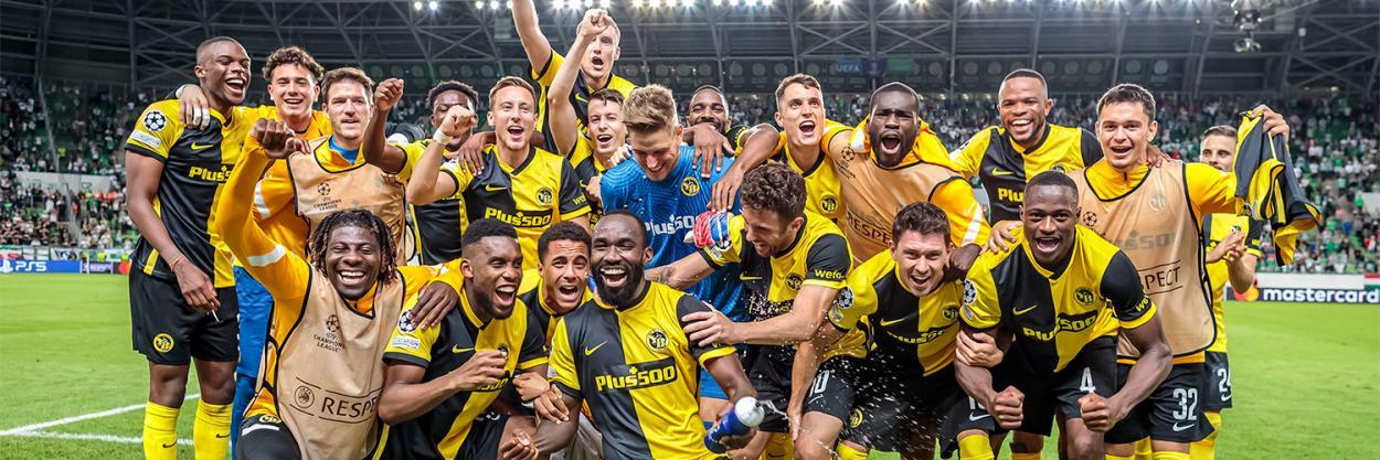 El Young Boys celebrando su clasificación a la UCL   Fuente: @BSC_YB