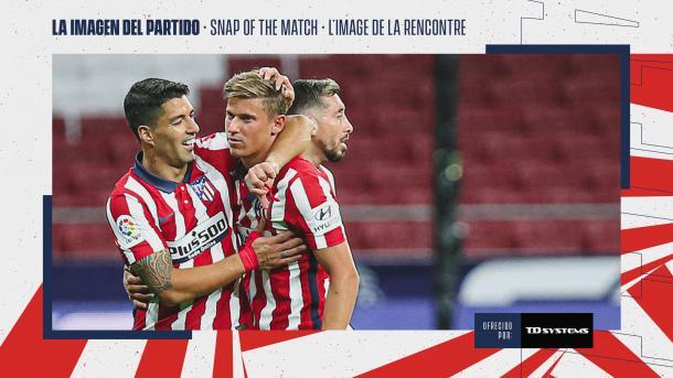 La imagen del partido / Twitter: Atlético de Madrid