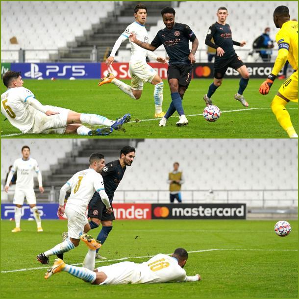 Tercer y segundo gol del Manchester City / FOTO: UEFA Champions League