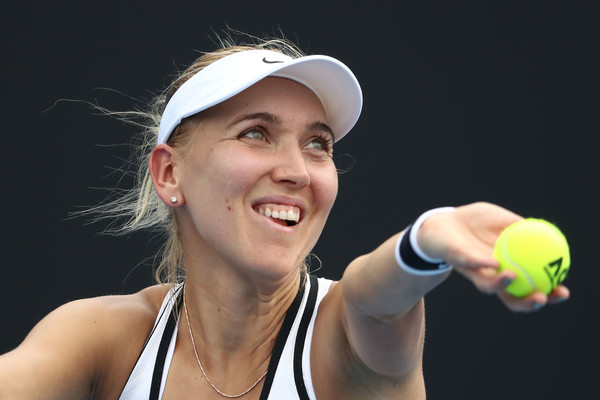 Elena Vesnina serves during the match   Photo: Scott Barbour/Getty Images AsiaPac