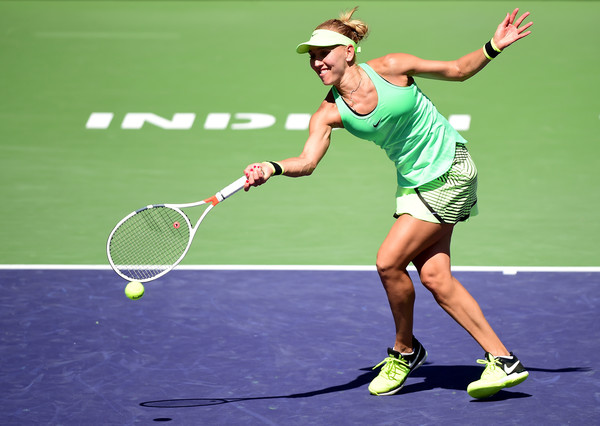 Elena Vesnina in action at the BNP Paribas Open, where she surprisingly emerged as the champion | Photo: Harry How/Getty Images North America