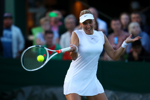 Elena Vesnina in action at the Wimbledon Championships | Photo: Michael Steele/Getty Images Europe