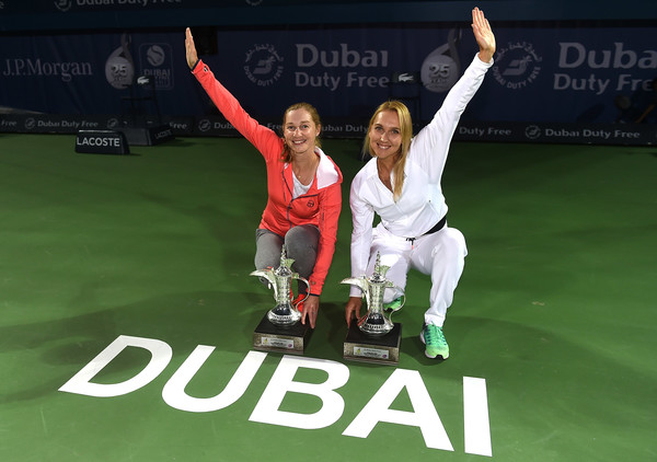 Ekaterina Makarova and Elena Vesnina claimed their first title of the year in Dubai | Photo: Tom Dulat/Getty Images Europe