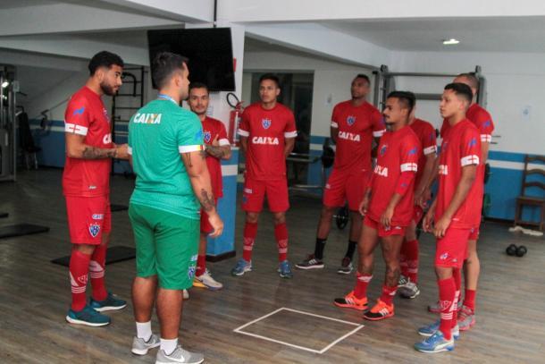 Elenco bicolor retornou às atividades com treinamento na academia da Curuzu (Foto: Fernando Torres/Paysandu)