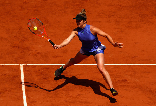 The 22-year-old in action at Roland Garros earlier this month (Photo: Adam Pretty/Getty Images Europe)