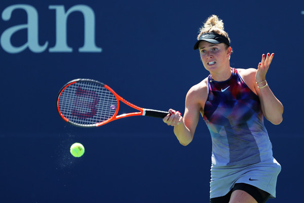 Elina Svitolina in action during the match | Photo: Richard Heathcote/Getty Images North America