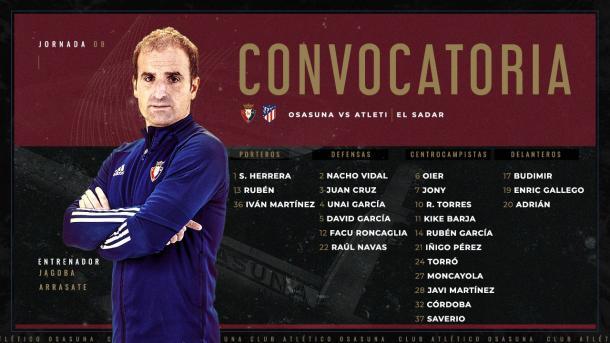 Twitter: Club Atlético Osasuna