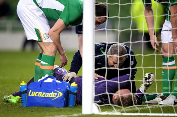 Newcastle's Rob Elliot will miss the rest of the season after picking up a knee injury for Ireland on Tuesday night (Getty)