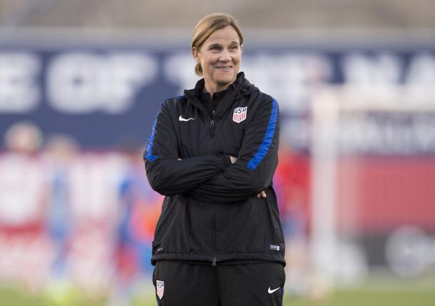 U.S. head coach Jill Ellis has also used 2017 to learn about her team, trying several different formations, playing players in various positions, and giving call-ups to younger players. Source: Brad Smith - ISI Photos/ US Soccer