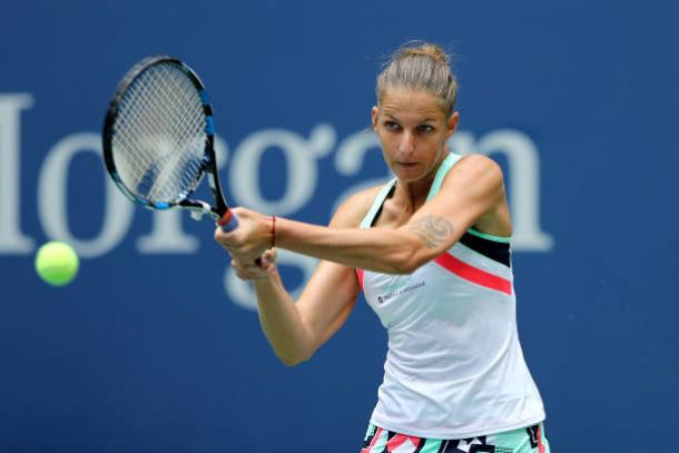 Pliskova started her quest for the US Open title with a comfortable first round victory (Getty/Elsa)