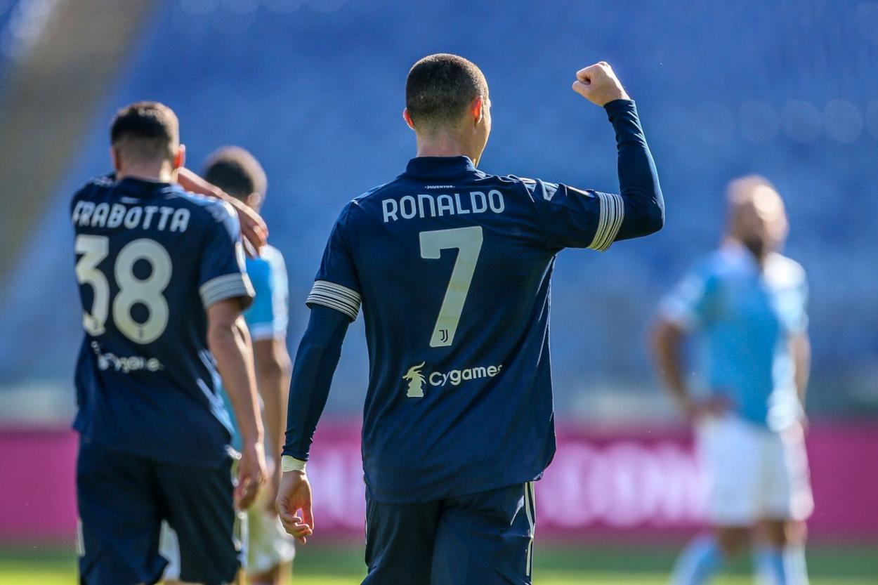 CR celebrando el primer gol / FOTO: Serie A